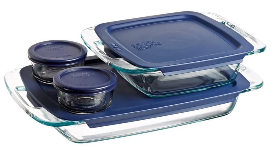 Get this Pyrex Easy Grab 8-Piece Glass Bakeware and Food Storage Set for just $14.59!