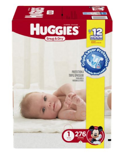Get Huggies Snug and Dry Diapers for just $0.07 per diaper, shipped!!