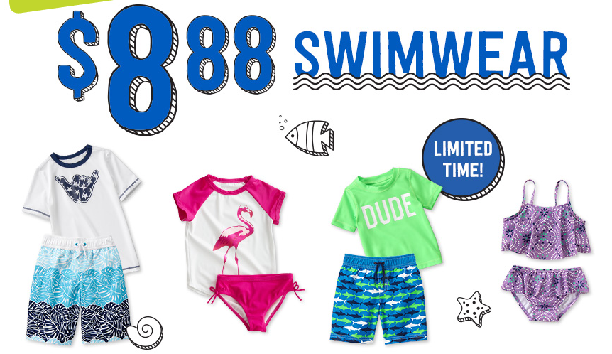 Get Kids' Swim Wear for just $8.88 at Crazy 8 right now!