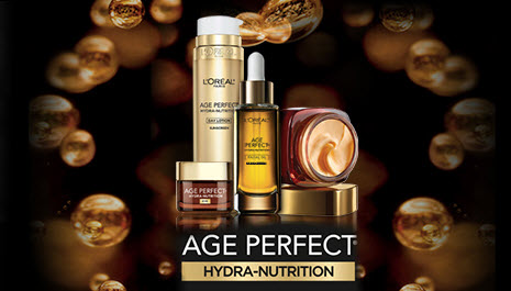 Sign up for a free sample of L'Oreal Age Perfect Hyrda-Nutrition Skin Care!