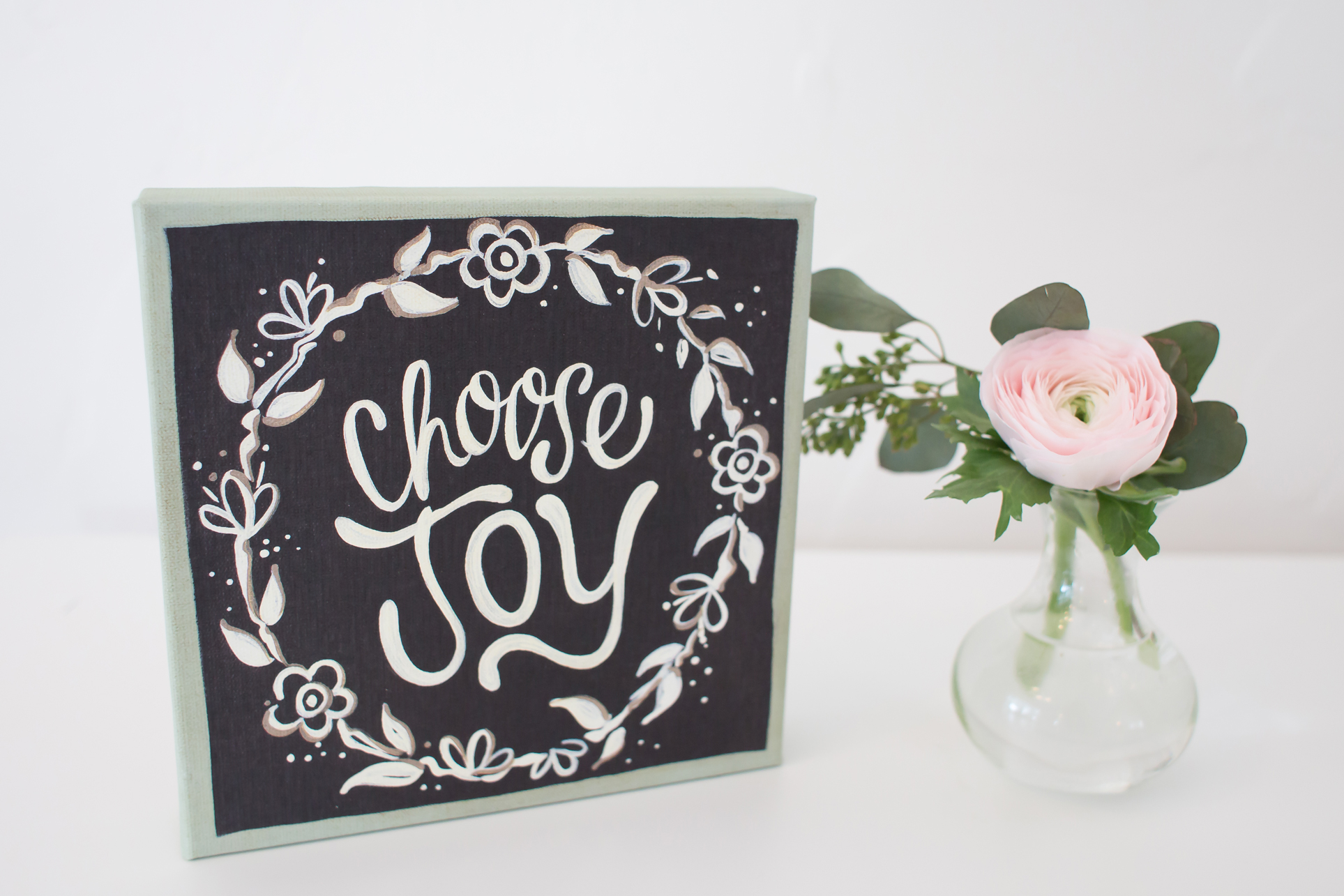 Get our new Choose Joy Canvas for just $13.50 right now!