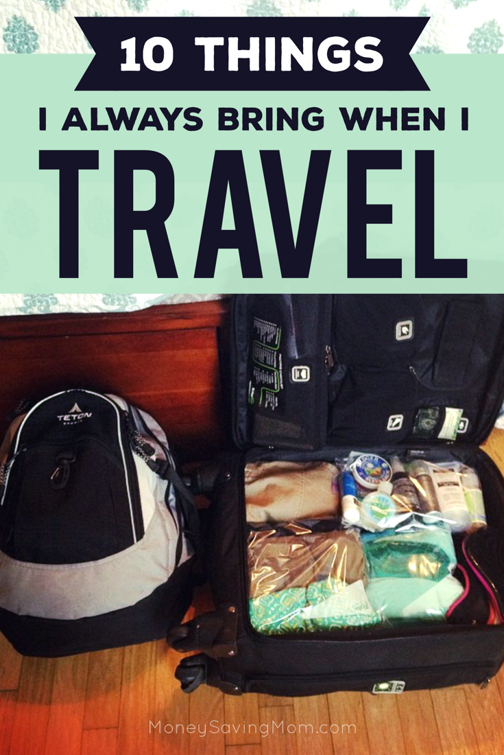 As many of you know, I've spent a considerable amount of time on planes, in airports, in cars, and in hotels the past few years of my life. As a result, I've gotten pretty good at packing for trips and being prepared for the unexpected… because you just never know what you might need when you're on the road. People often ask me questions about traveling and packing and prepping for trips, so I thought it would be fun for me to put together a list of 10 things I never travel without...