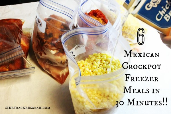 6 Mexican Crockpot Meals for Your Freezer in 30 Minutes