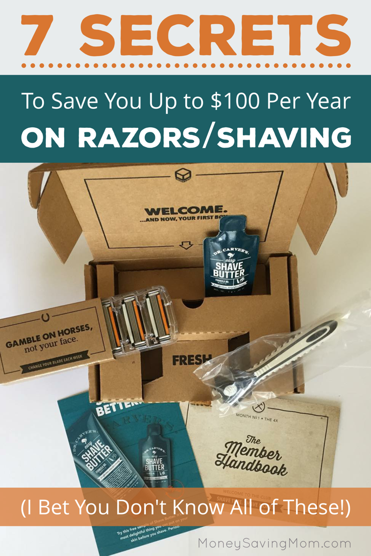 7 Tips to Save You Up to $100 Per Year on Razors. This is a great post that compiles all of the BEST ideas and suggestions for anyone who is looking for new ways to save money on razors!