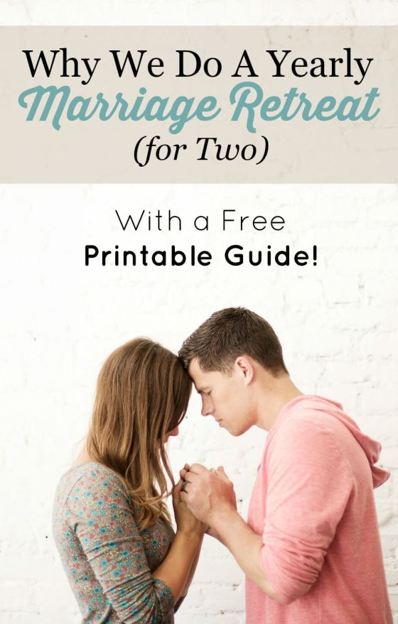 Download a free printable guide on how to plan a marriage retreat for two.