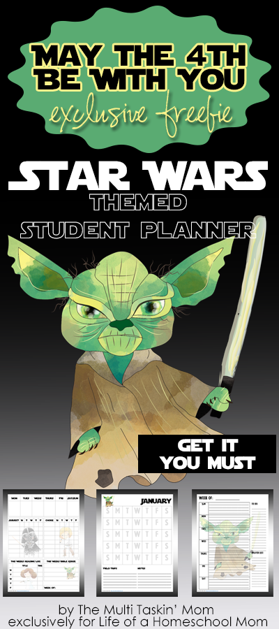 Free Printable Star Wars Student Planner