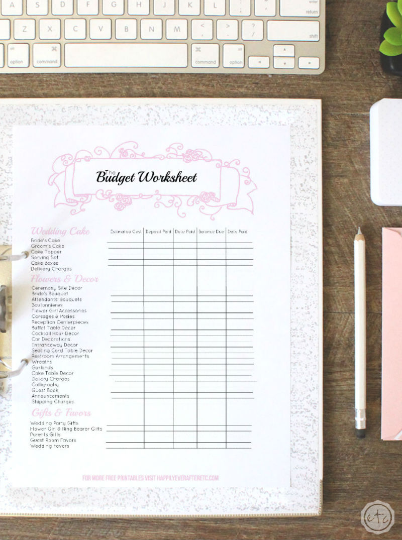 photograph about Free Printable Wedding Planner Templates referred to as Totally free Printable Wedding day Binder Income Conserving Mom® : Financial