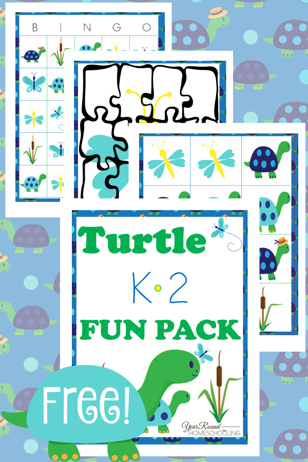 Free Turtle Printable Fun Pack