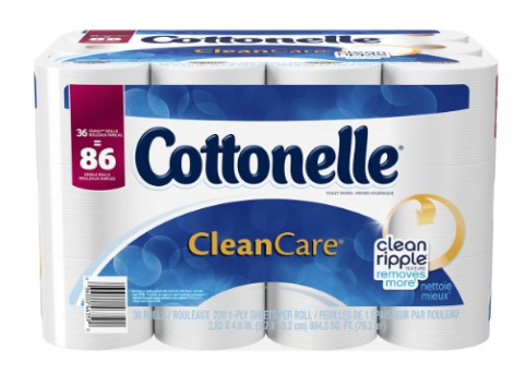 Get Cottonelle bath tissue for just $0.49 per double roll right now!