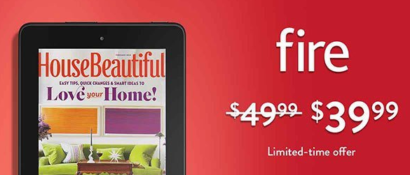 Get the Kindle Fire Tablet for just $39.99 right now!
