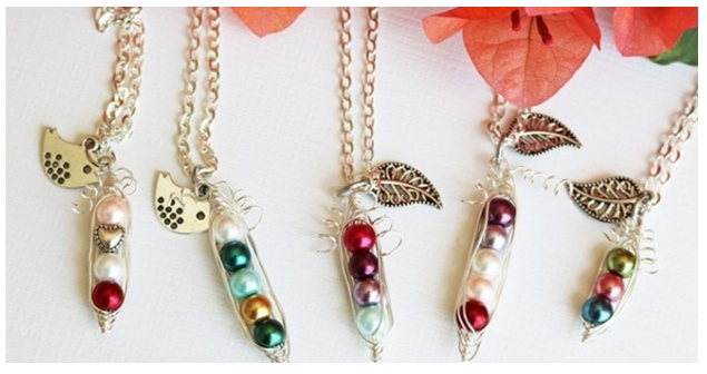 Get a personalized peas in a pod necklace for just $6.99 + shipping!