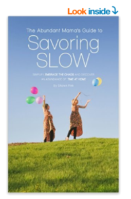 Get the Savoring Slow eBook for just $2.99 right now!