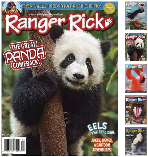 Get a subscription to Ranger Rick magazine for just $10 per year! Great gift idea for kids!!