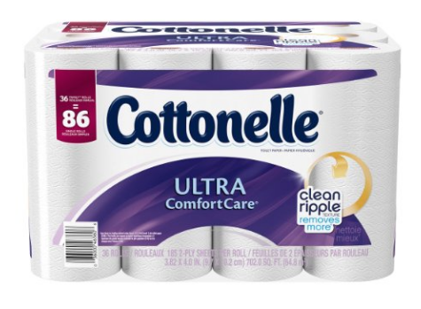 Get Cottonelle Ultra ComfortCare Toilet Paper for just $.38 per double roll, shipped!