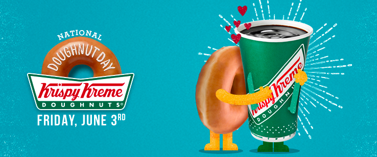 Stop by Krispy Kreme on June 3, 2016 to get a FREE doughnut of your choice!