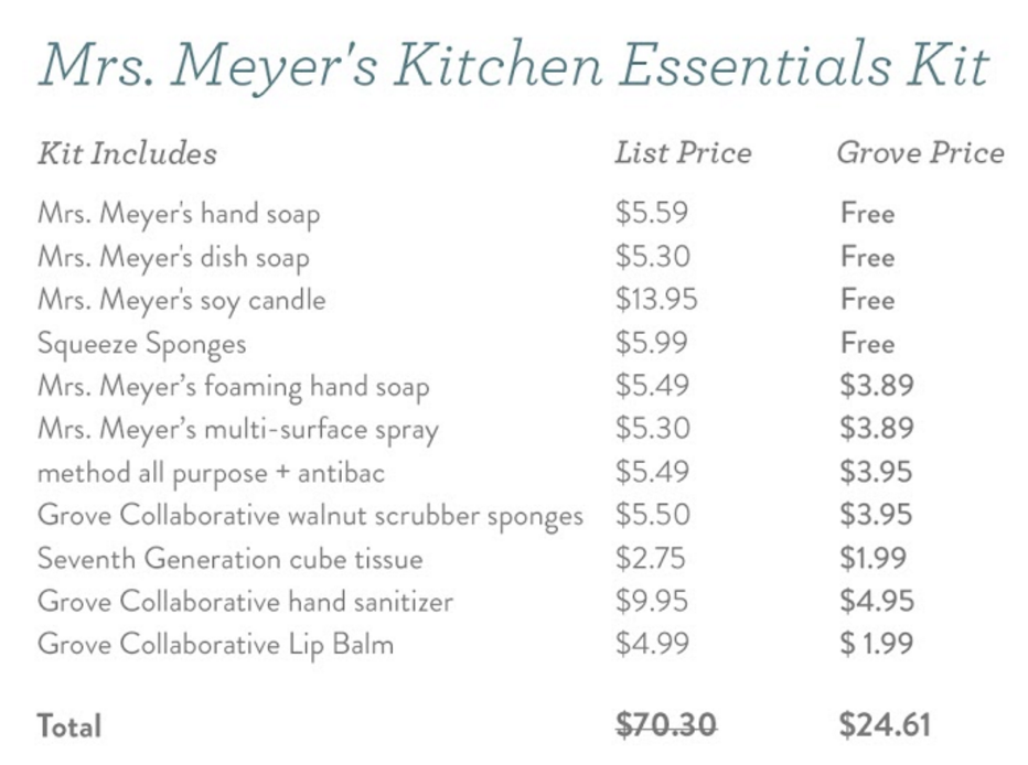 Mrs. Meyer's Kitchen Essentials