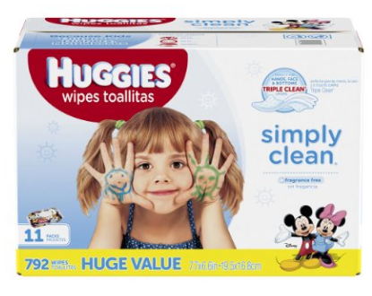 Get Huggies Simply Clean Baby Wipes for less than $0.02 per wipe, shipped!
