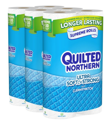 Get Quilted Northern Bath Tissue for just $0.43 per double roll, shipped!