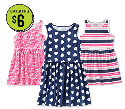 Get girls' dresses at Crazy 8 for just $6 shipped right now!