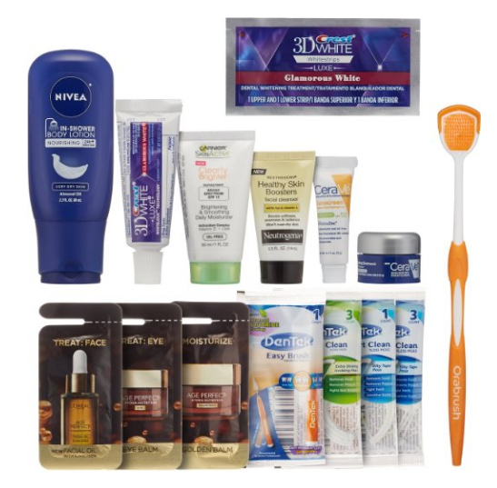 Get a free women's skin & oral care beauty sample box after credit on Amazon right now!