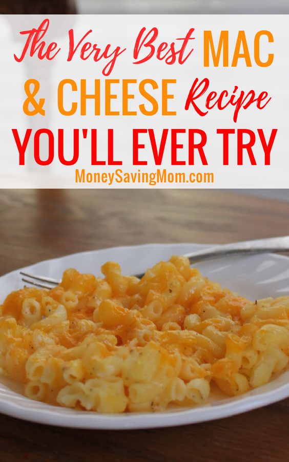 This is seriously THE BEST mac & cheese recipe of all time!