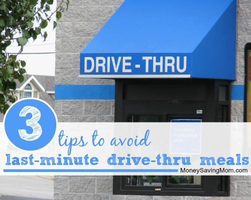 drive thru meals