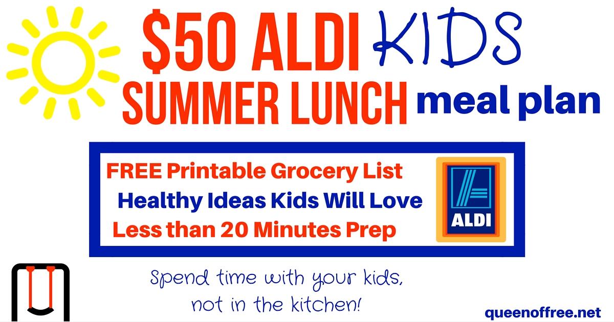 $50 Aldi Kids Summer Lunch Meal Plan - Money Saving Mom