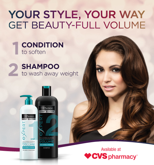 Save on Tresemme Hair Care Products + enter to win a $50 CVS gift card!