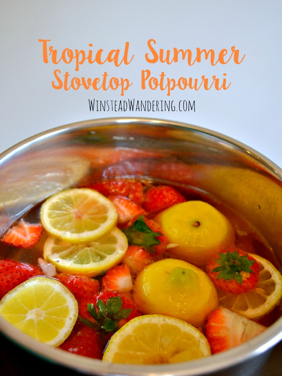 DIY Tropical Summer Stovetop Potpourri