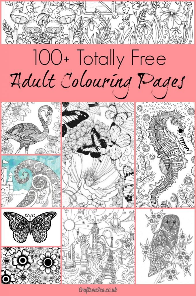Download 100+ free coloring pages for adults!