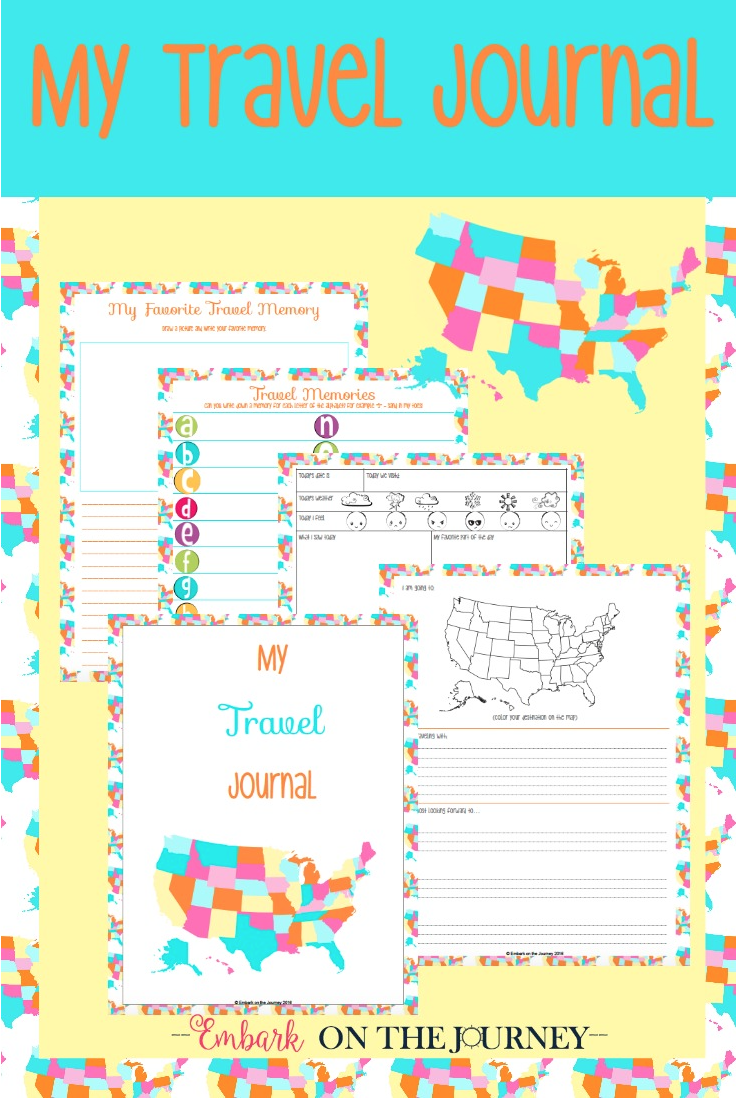 Download a free %22My Travel Journal%22 for Kids printable pack.