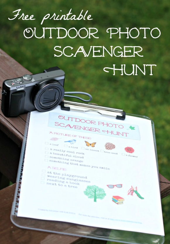 Download a free Outdoor Photo Scavenger Hunt printable.