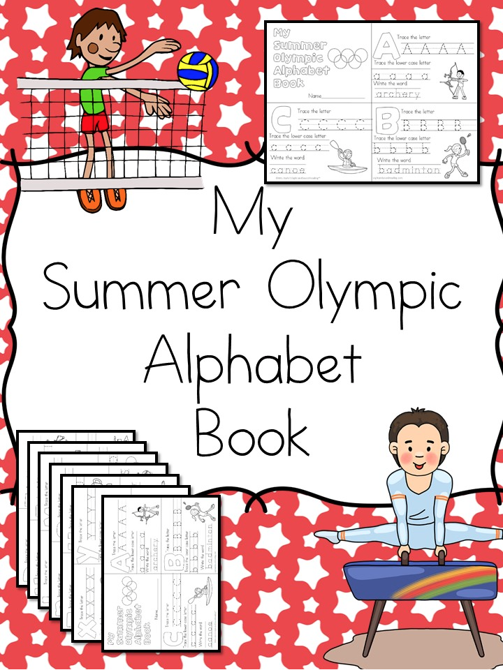Download a free printable Summer Olympics Alphabet Book.