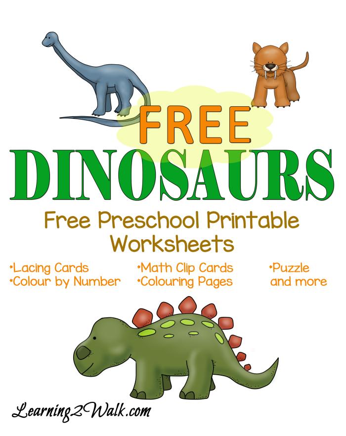 Free Dinosaurs Preschool Printable Pack