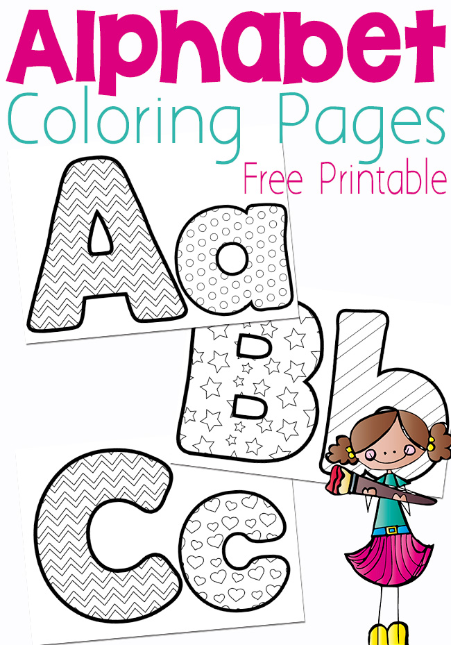 Free Printable Alphabet Coloring Pages Money Saving Mom® : Money Saving  Mom®