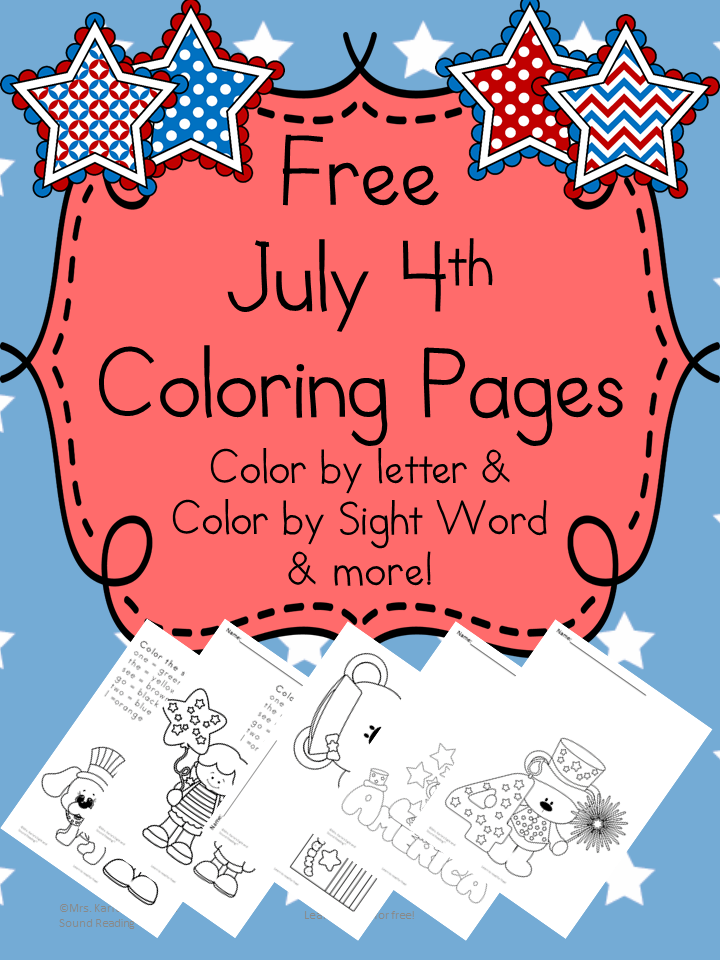 Free Printable July 4th Coloring Pages Money Saving Mom