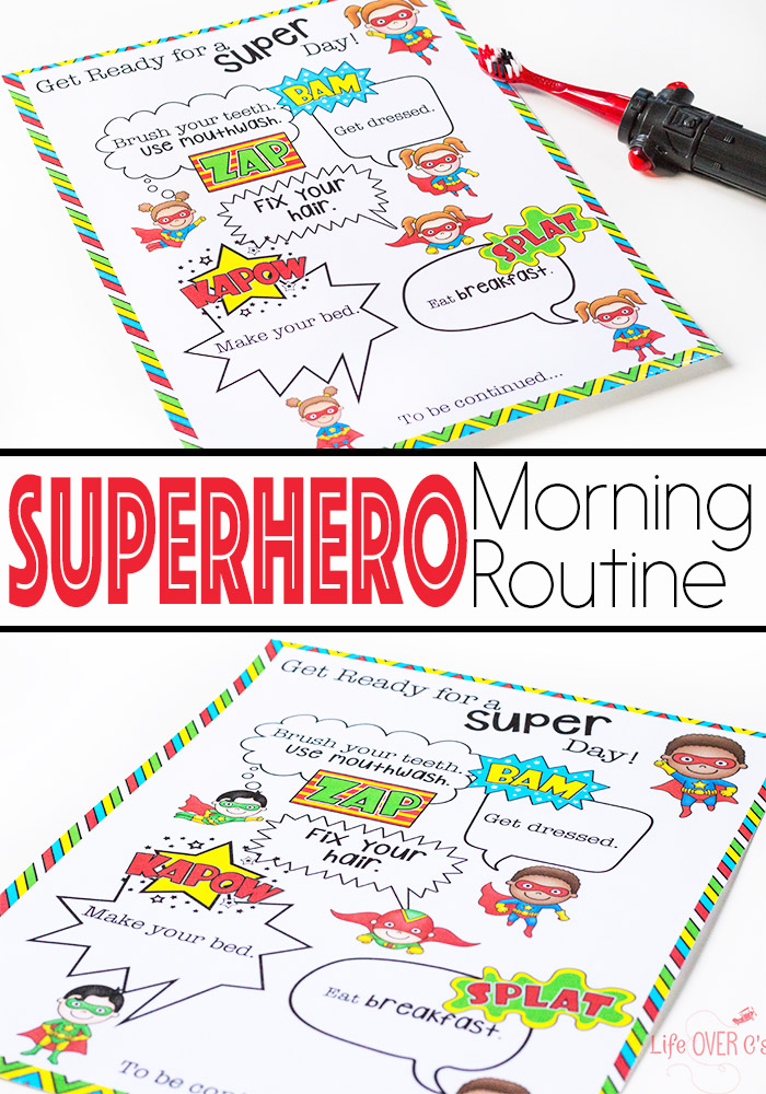 graphic relating to Free Printable Superhero titled Free of charge Printable Superhero Early morning Plan for Youngsters Dollars