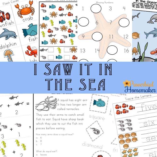 Free Sea Animals Printable Pack