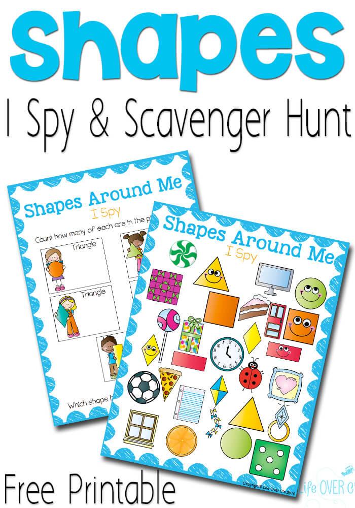 Free Shapes I Spy Printable