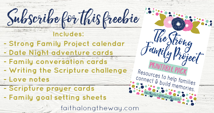Free Strong Family Project Printable Pack