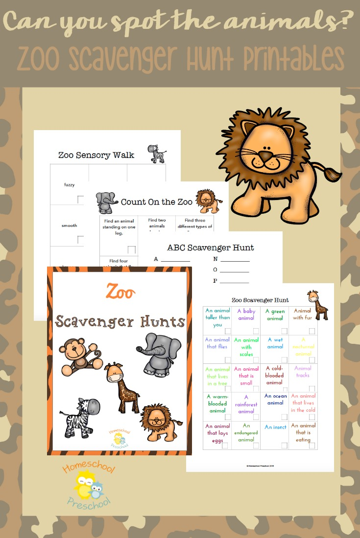 Free Zoo Scavenger Hunt Printable Pack