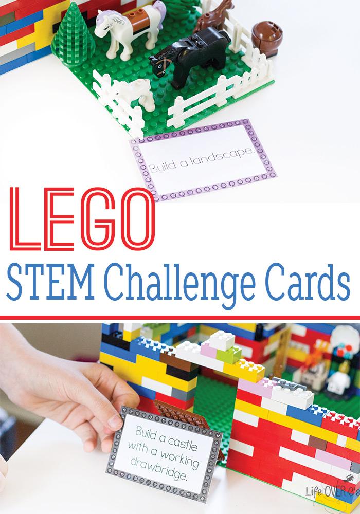 Free printable LEGO STEM Challenge Cards!