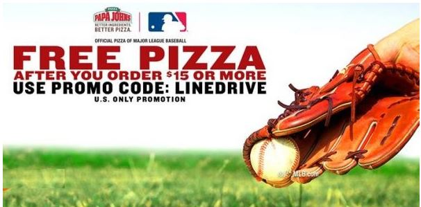 Get a Free Pizza at Papa John's with $15 onlie order
