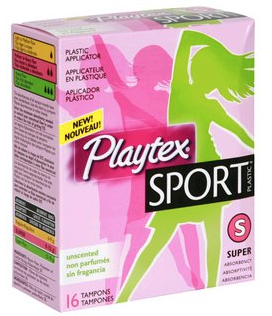Get a free sample pack of Playtex Sport feminine care products.