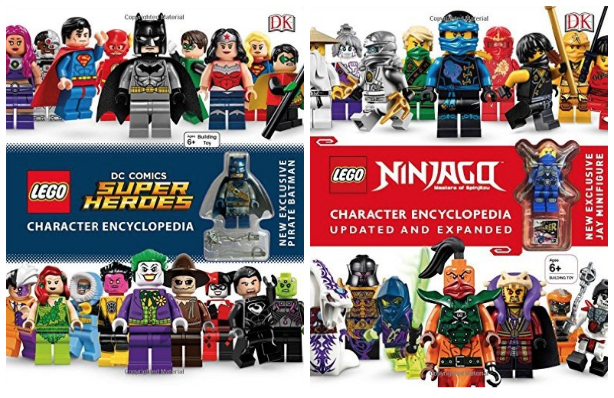 Get the LEGO DC Comics Super Heroes Character Encyclopedia or LEGO Ninjago Character Encyclopedia for$8.25!