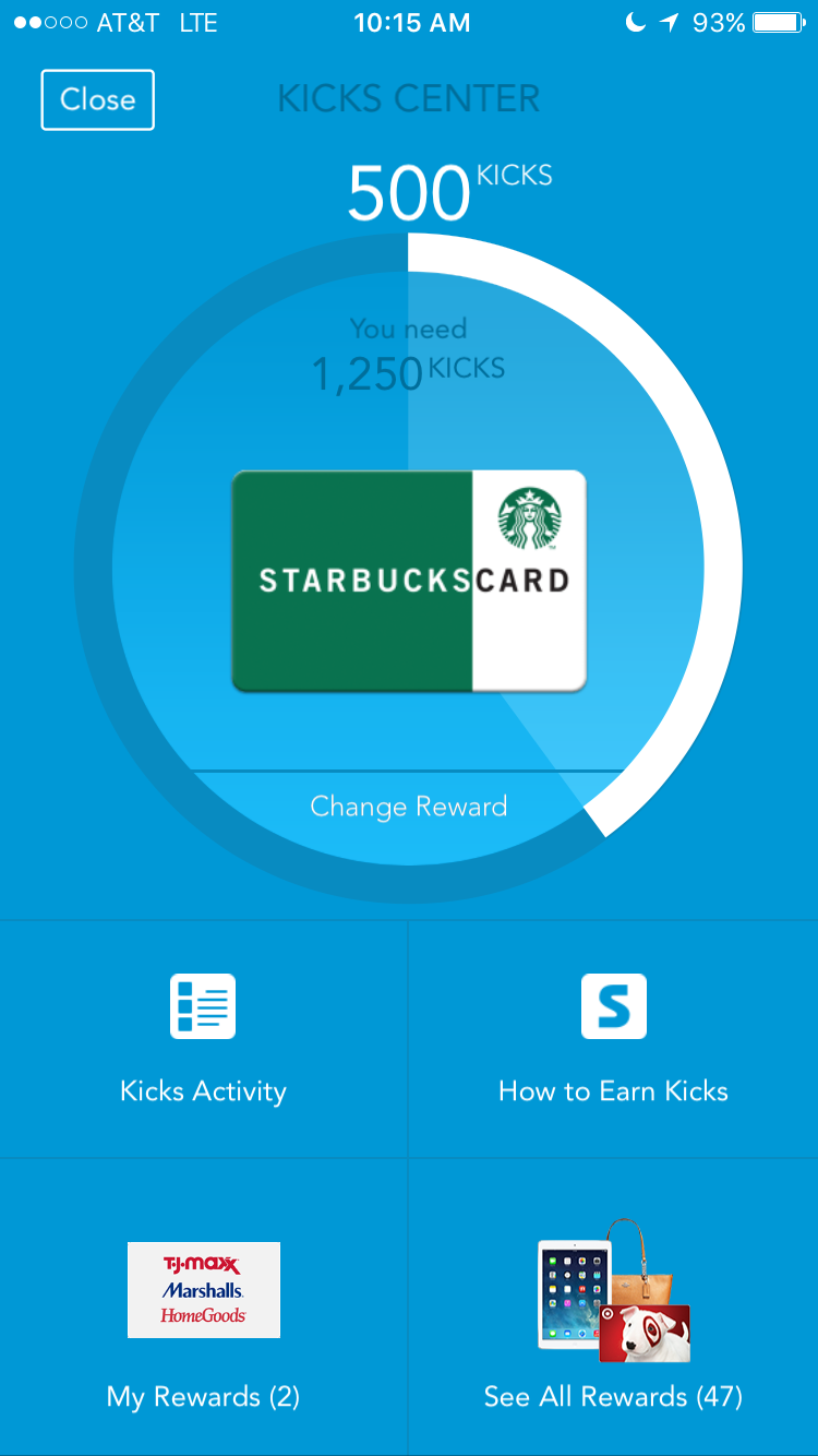 Sign up with Shopkick to earn free gift cards!