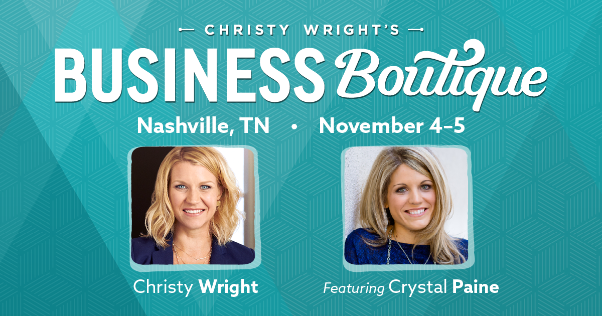 Join me at the Business Boutique in Nashville this November! I'm SO excited!!