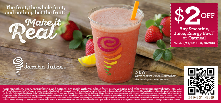 Print a Jamba Juice coupon for $2 off