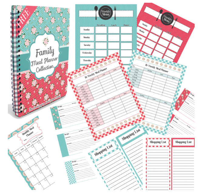 free printable family meal planner collection money saving mom