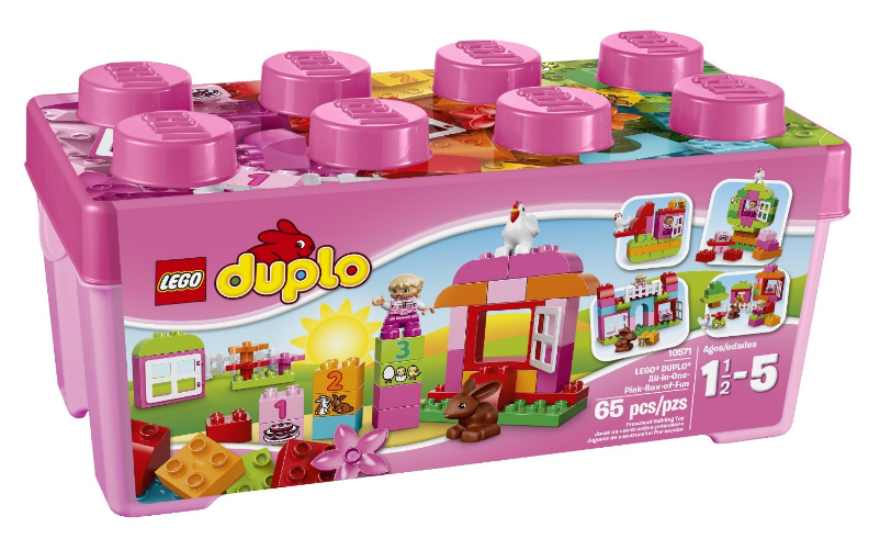 Get the LEGO DUPLO Creative Play All-In-One Pink Box of Fun for just $19.49!